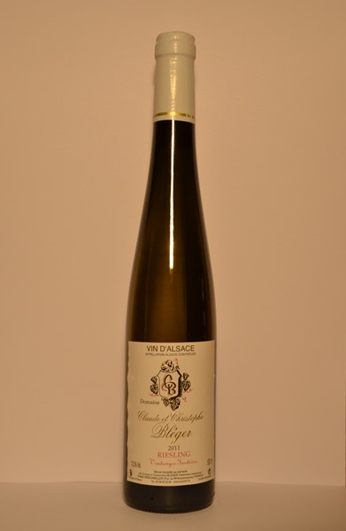 "Riesling ""Vendanges Tardives"" Vin d'Alsace 2011 75cl"