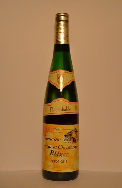 """Pinot Gris """"L'Inoubliable"""" Vin d'Alsace 2012 75cl"""